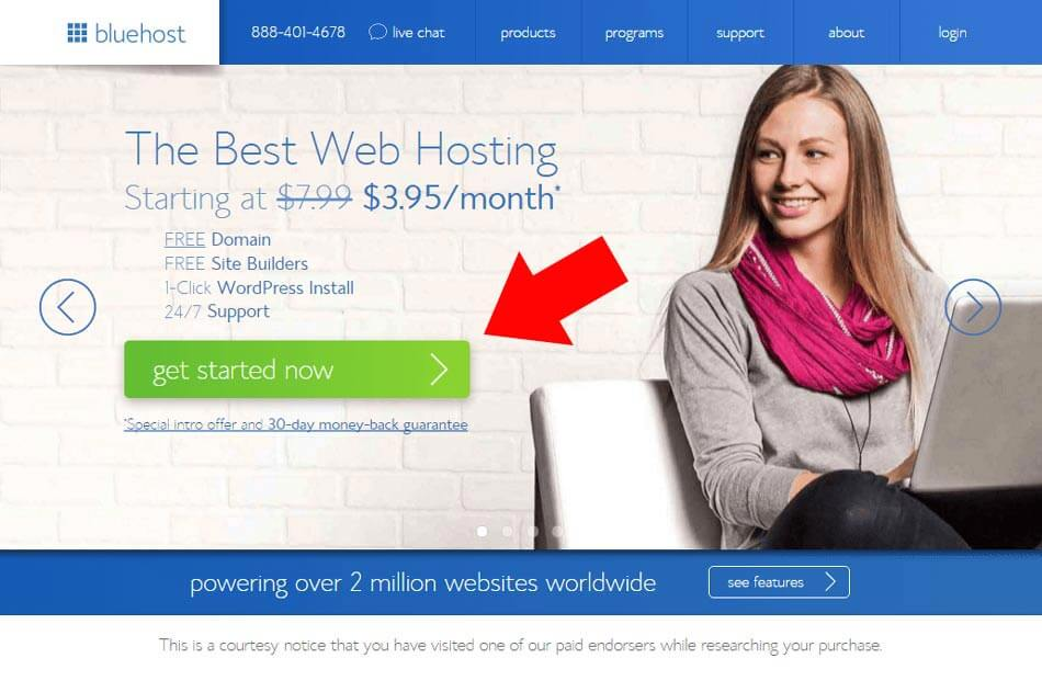 Create a WordPress Website hosted on Bluehost