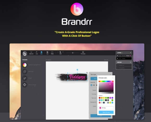 Create a Logo with Brandrr