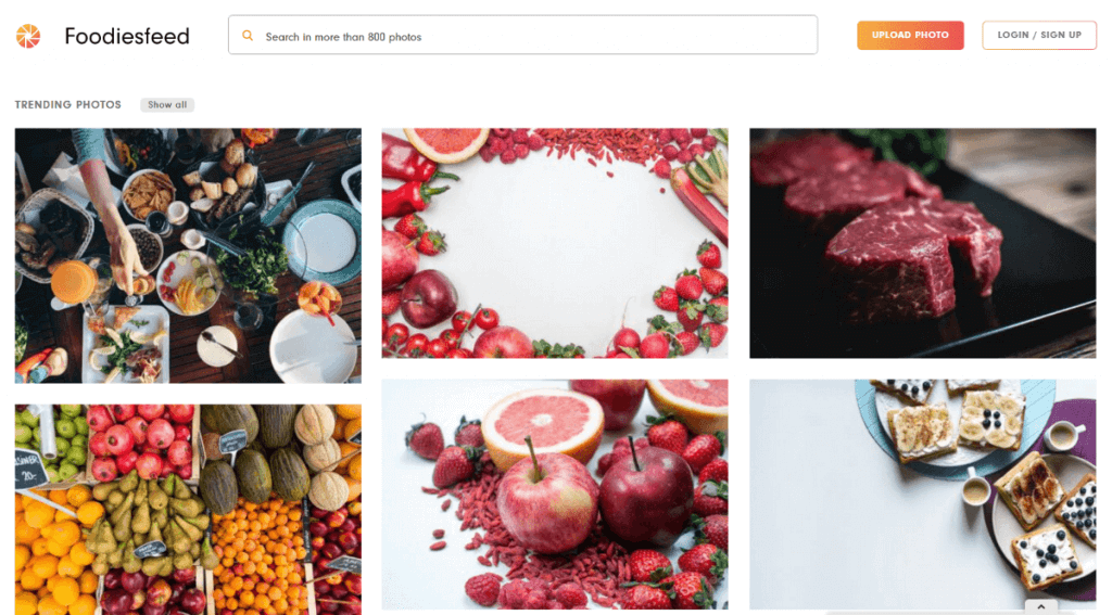 FoodiesFeed - Free Stock Photos for Food Bloggers