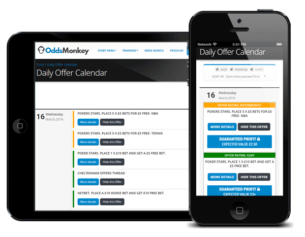 Oddsmonkey matched betting subscription service
