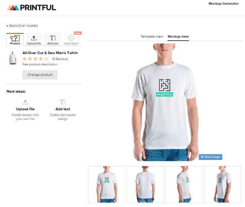 T-Shirt Design Mock Up Generator