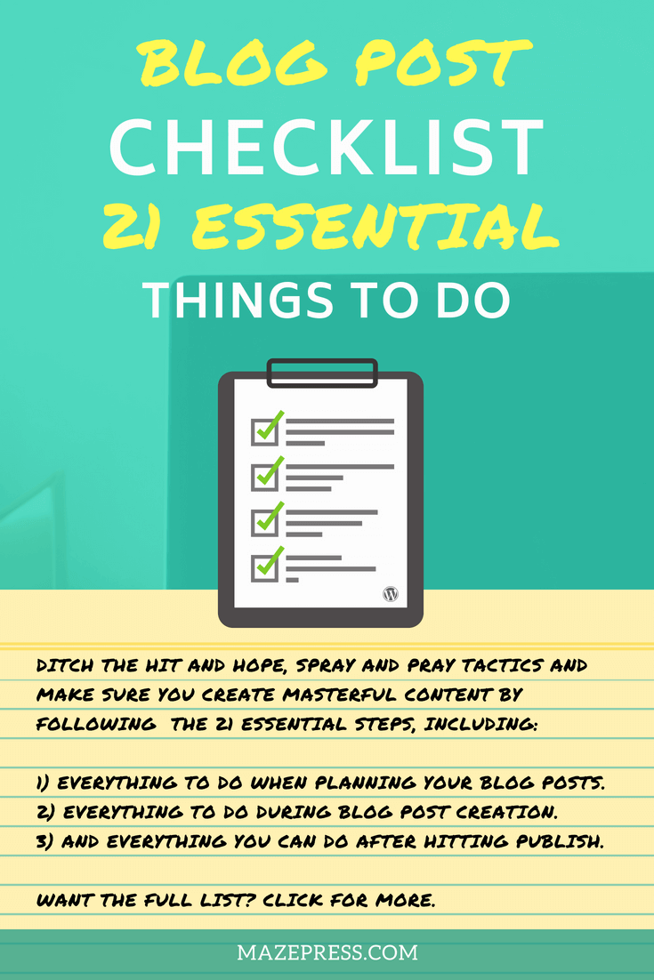 Blogging Checklist Essential Steps, Tricks and Tips