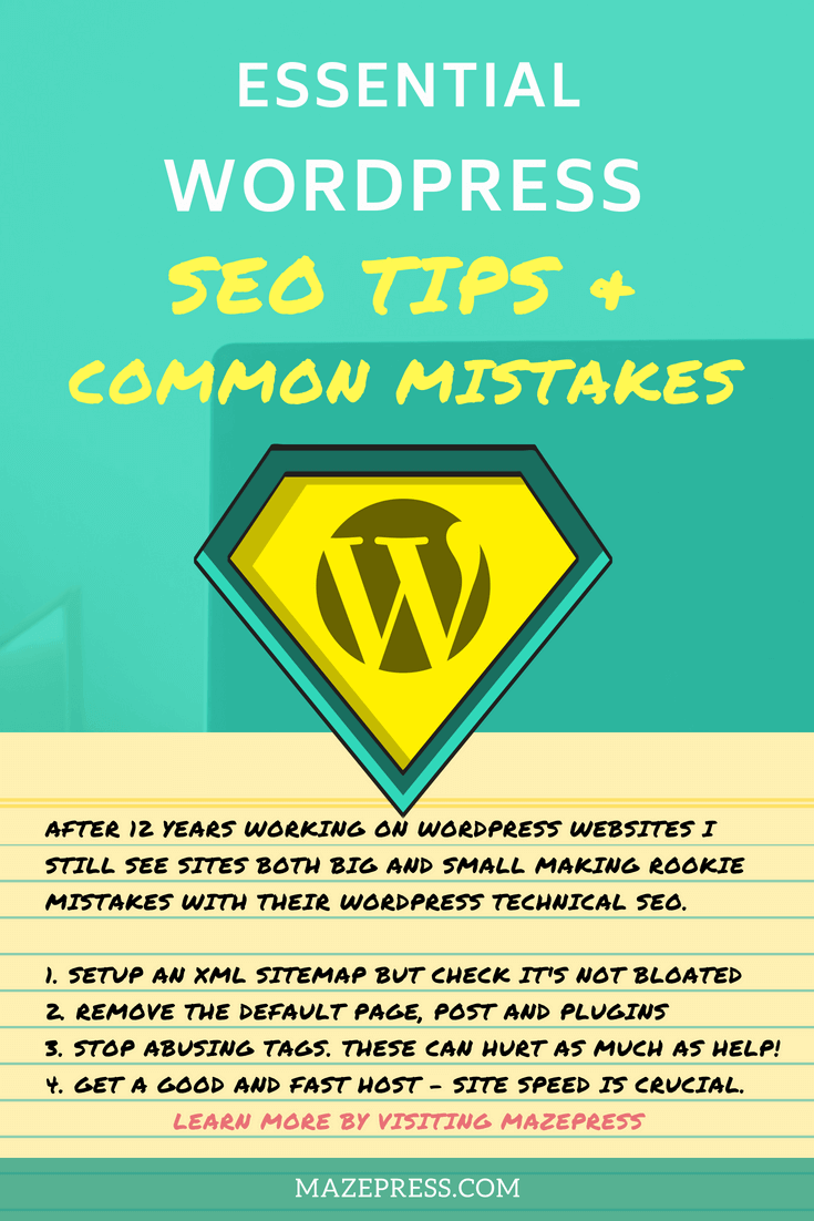 Wordpress SEO Mistakes