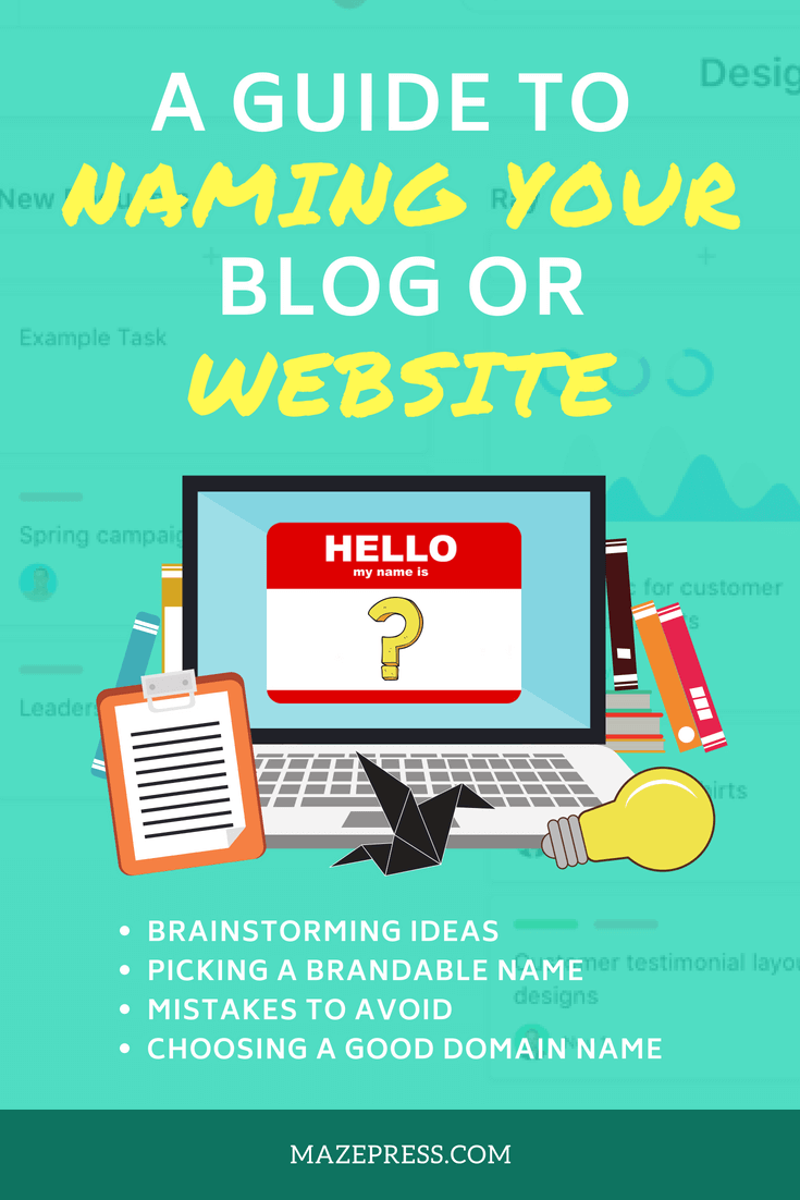 How to Name Your Blog or Website Tips
