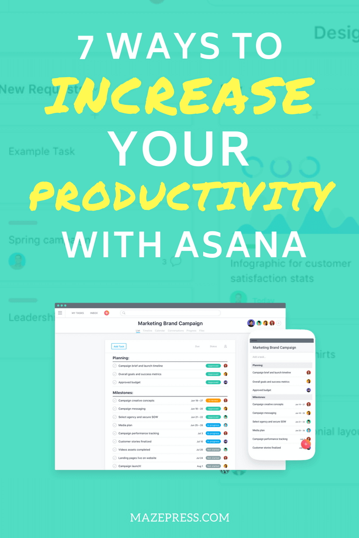 Work Productivity Ideas with Asana