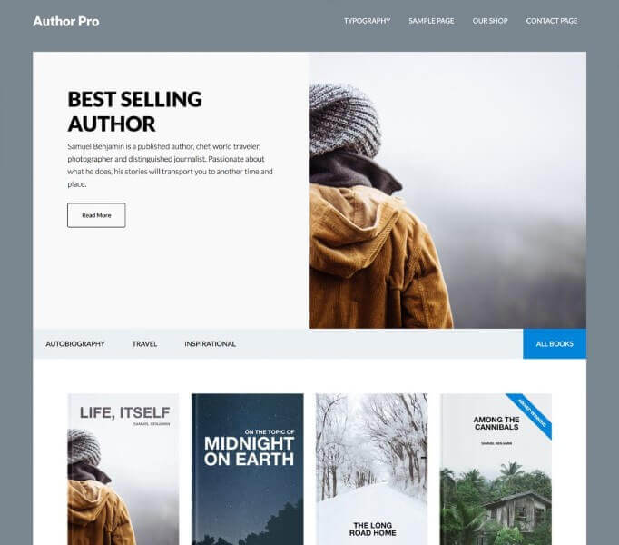 Author Pro WordPress Theme for Bloggers