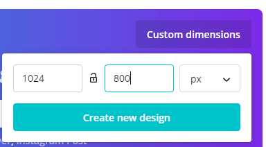 Canva - Custom Dimensions