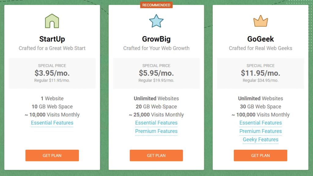 Siteground Pricing - Secure WordPress Hosting