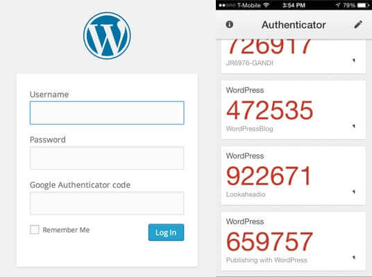 WordPress 2-FA / 2-Factor Authenticator for website security