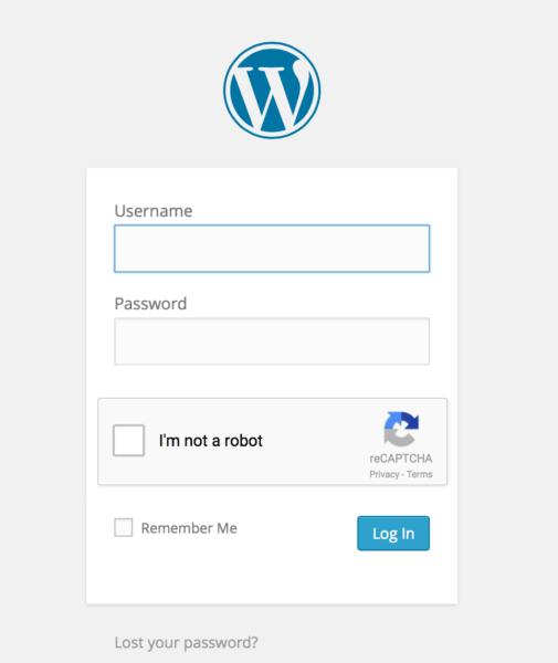 WordPress ReCaptcha Login