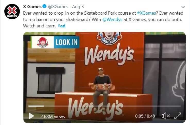 X Games Twitter Marketing