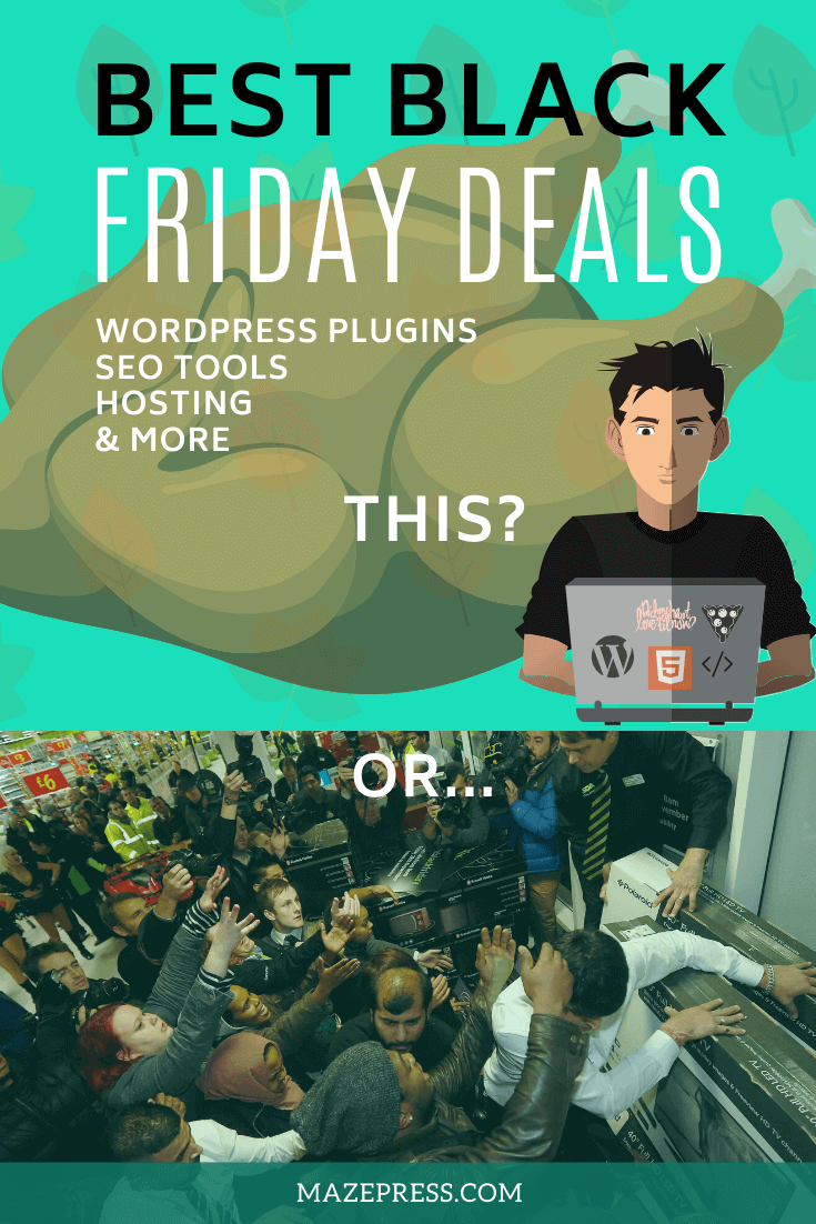 Black Friday and Cyber Monday Discounts on WordPress Plugins, SEO Software and other B2B Tools
