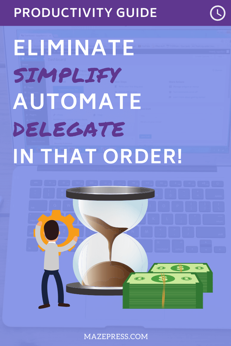 Productivity: Eliminate, Simplify, Automate, Delegate - In that order!