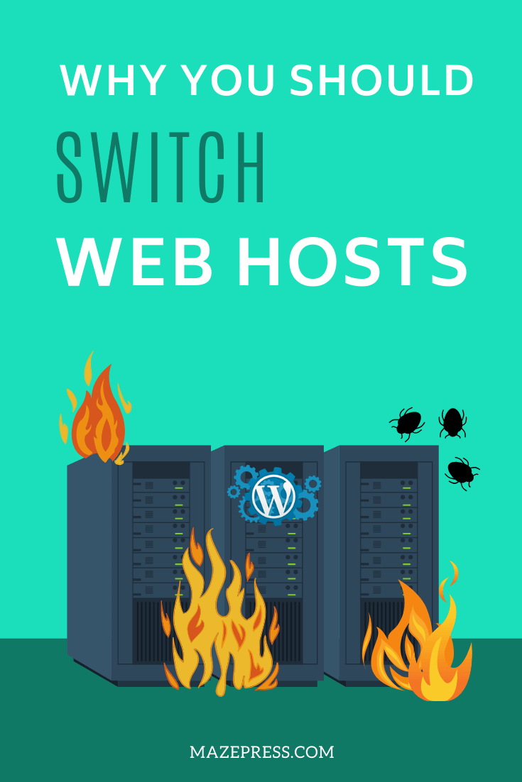 Why Switch Web Hosts Pin