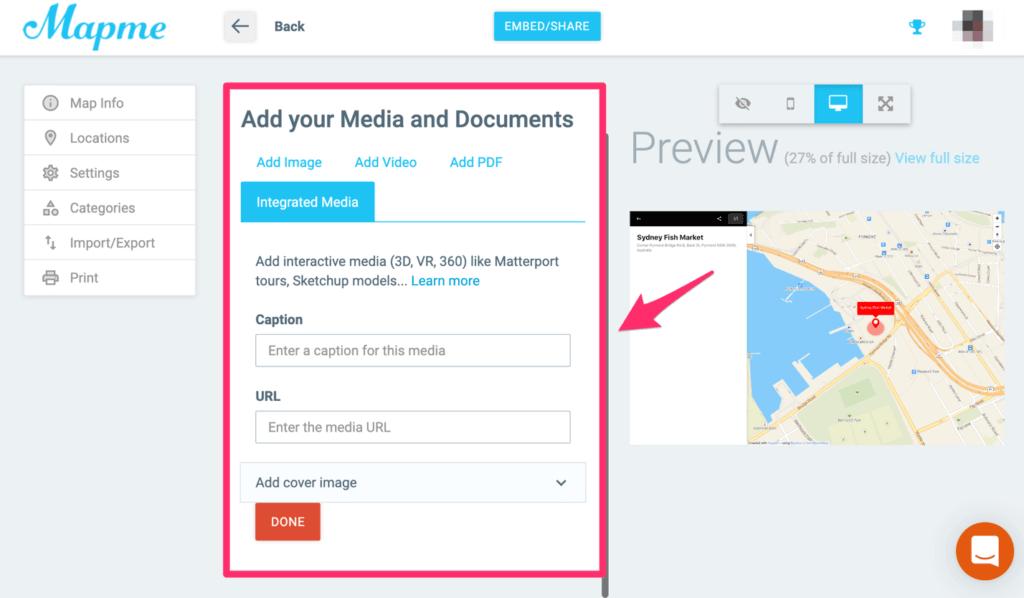 Mapme - add media