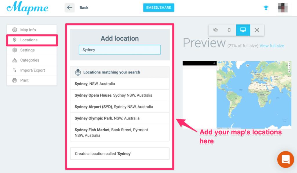 Mapme - add location