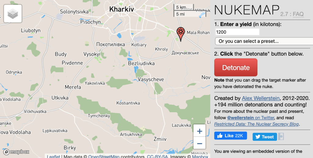 Nukemap - Future of Life Institute