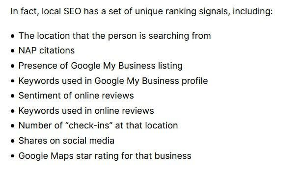 Local SEO Ranking Factors - Backlinko
